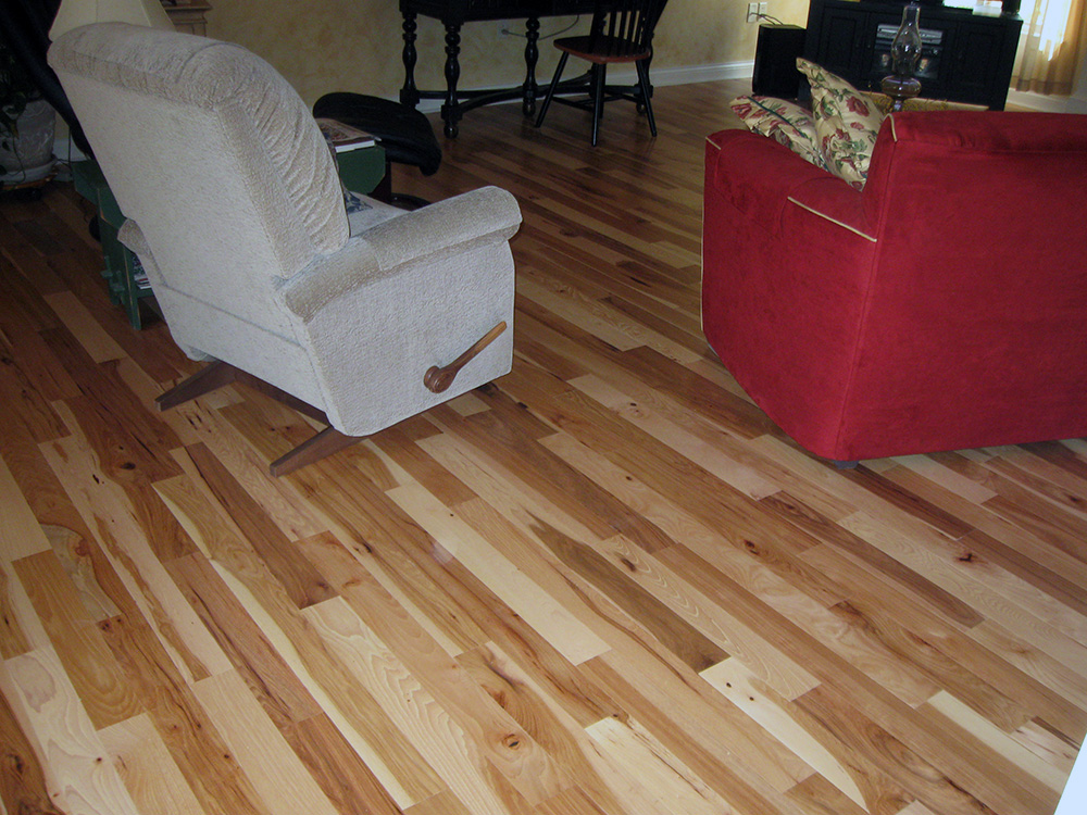 Natural Hickory Flooring Installation